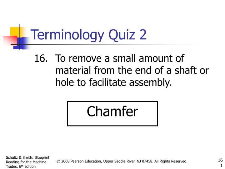 Terminology Quiz 2