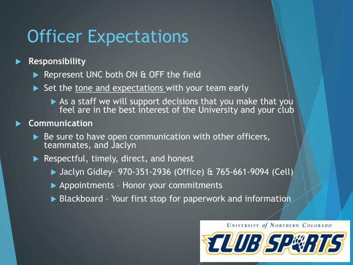 Officer Expectations