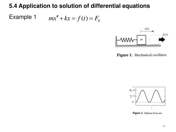 5.4 Application to solution of differential equations