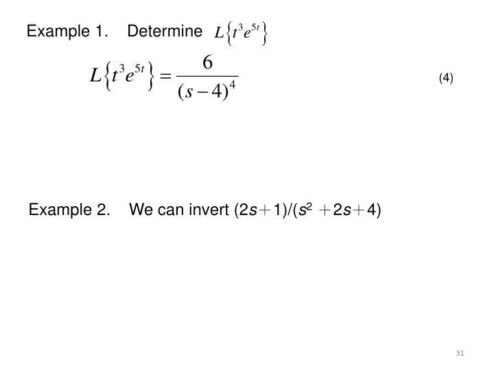 Example 1.    Determine