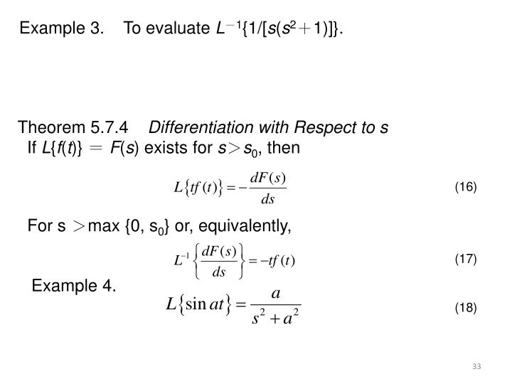 Example 3.    To evaluate
