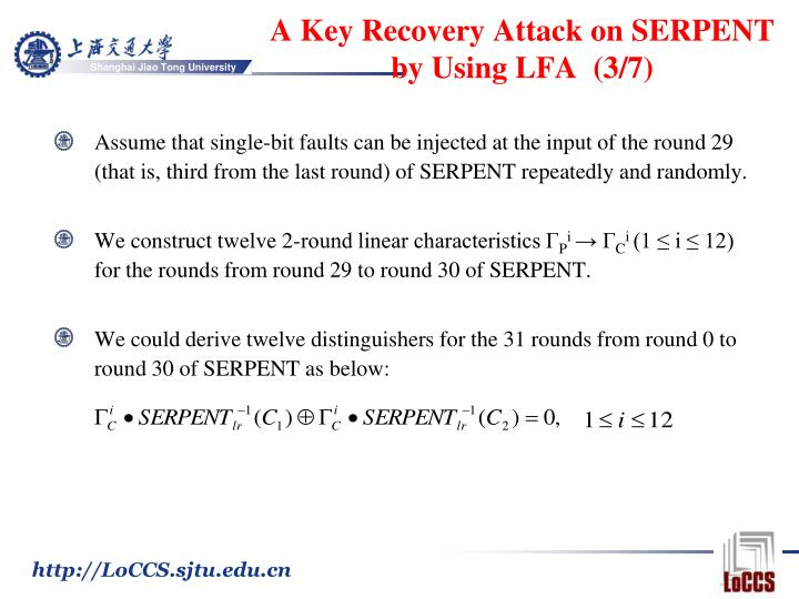 A Key Recovery Attack on
