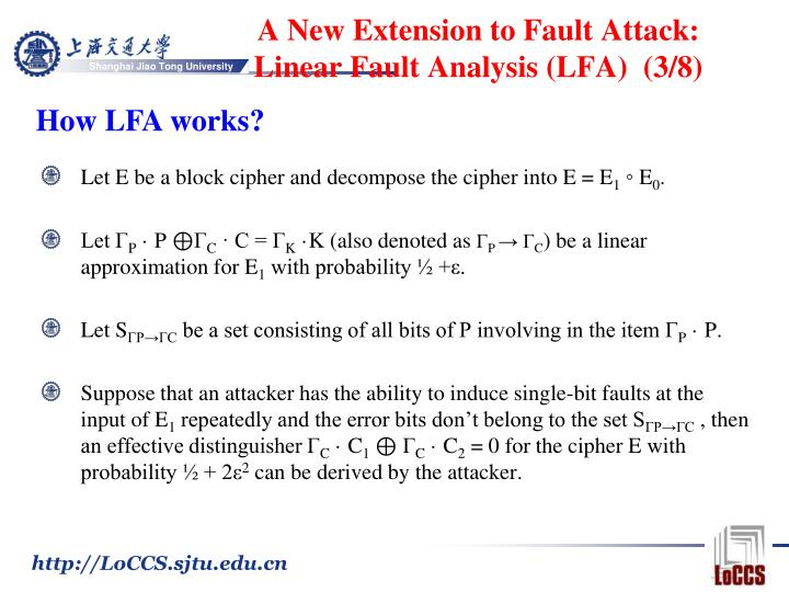 A New Extension to Fault Attack: