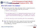 a new extension to fault attack linear fault analysis lfa 5 8