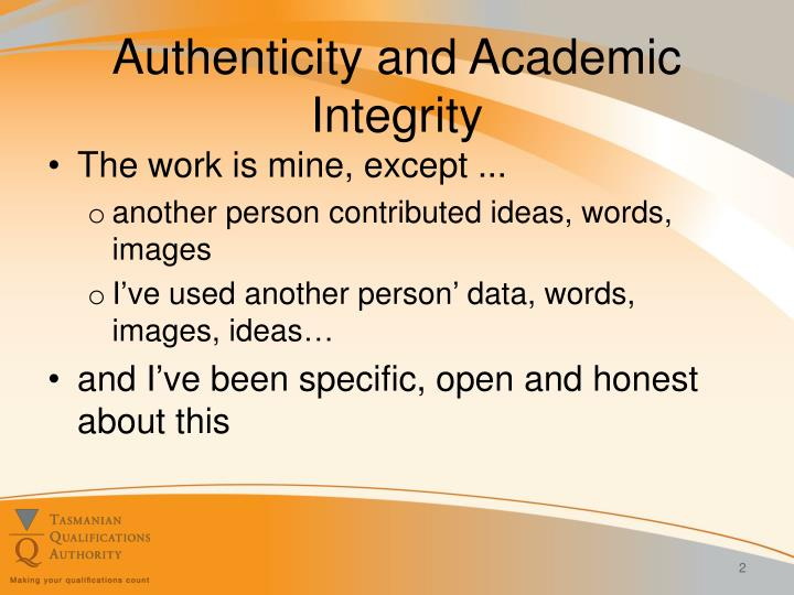 Authenticity and academic integrity