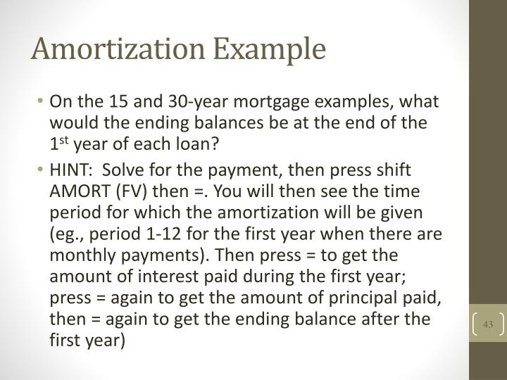 Amortization Example