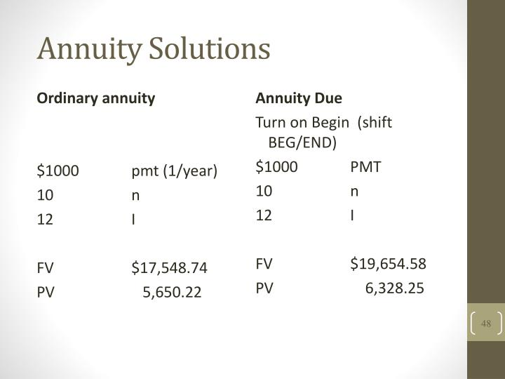 Annuity Solutions
