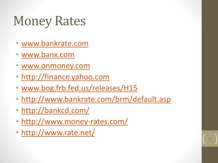 Money Rates