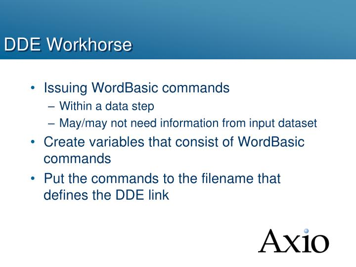 DDE Workhorse