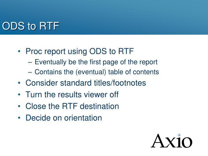 ODS to RTF