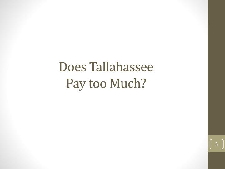 Does Tallahassee