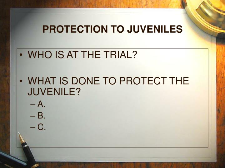 PROTECTION TO JUVENILES
