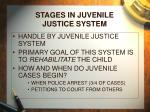 stages in juvenile justice system