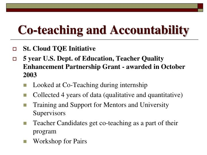 Co-teaching and Accountability