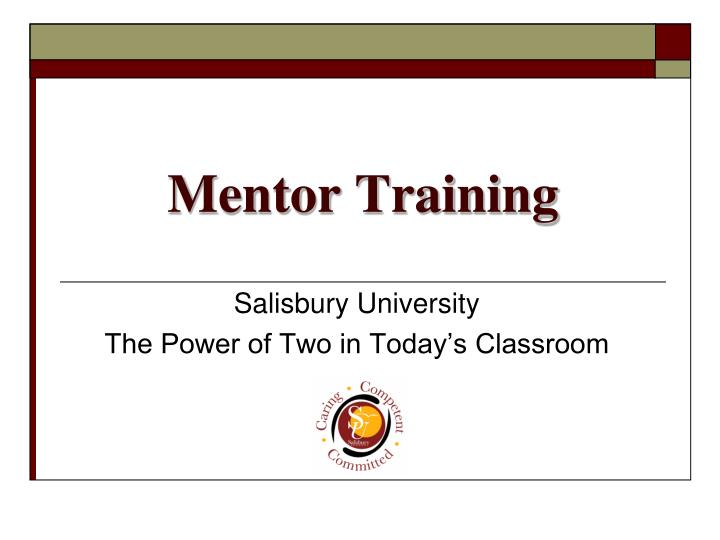 Mentor training