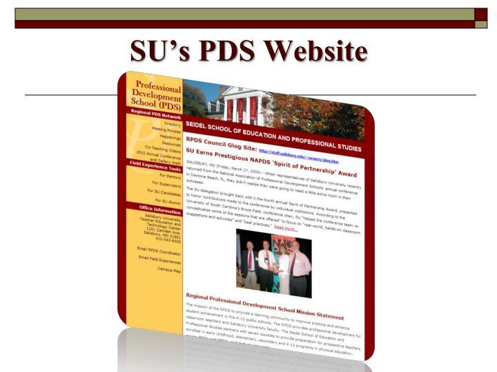 SU's PDS Website