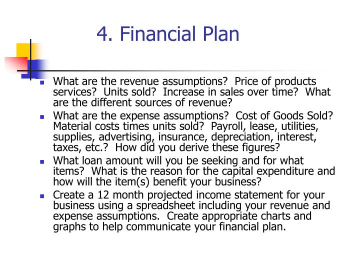 4. Financial Plan