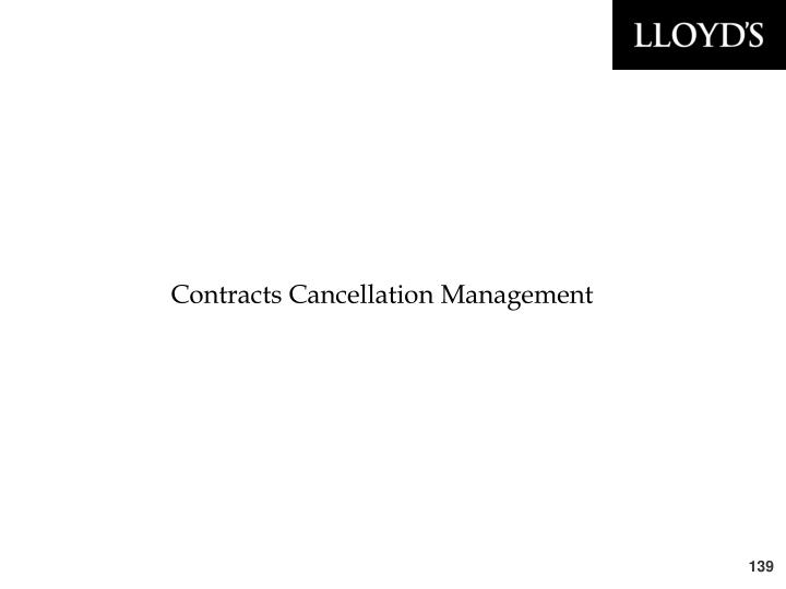 Contracts Cancellation Management