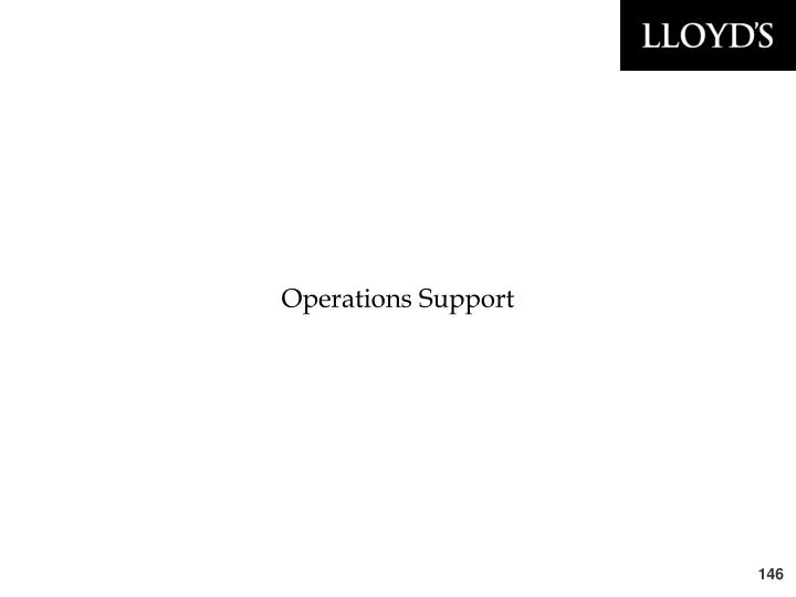 Operations Support