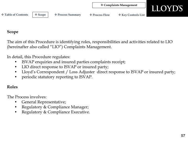 Complaints Management