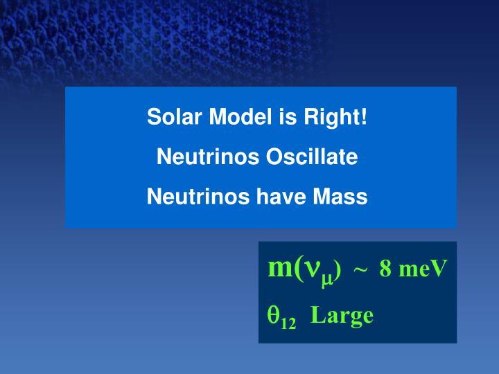 Solar Model is Right!