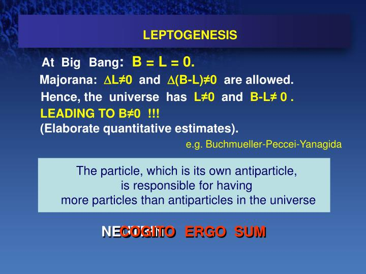 The particle, which is its own antiparticle,