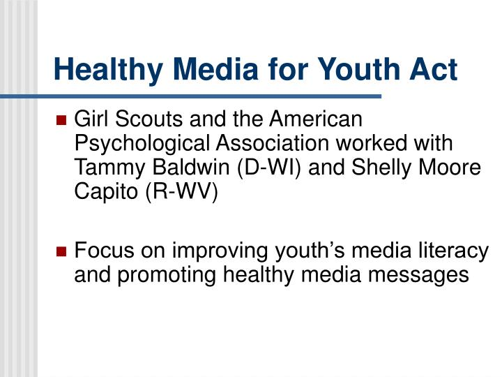 Healthy Media for Youth Act
