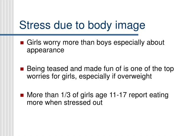 Stress due to body image