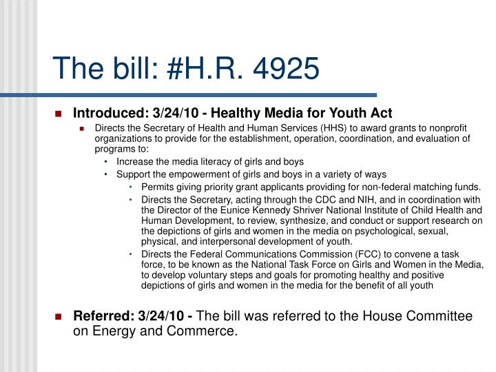 The bill: #H.R. 4925