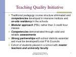 teaching quality initiative