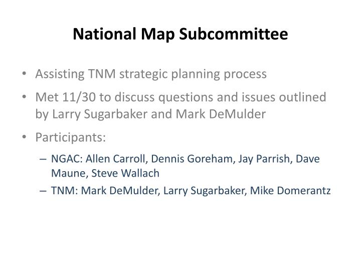 National map subcommittee1