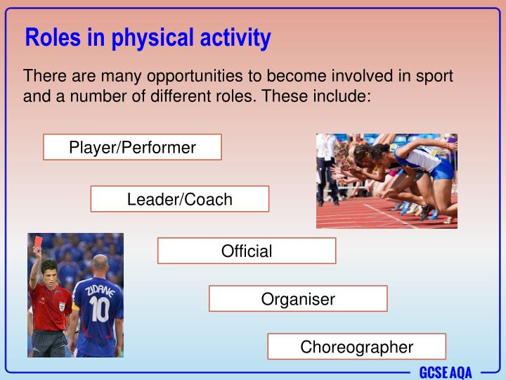 Roles in physical activity