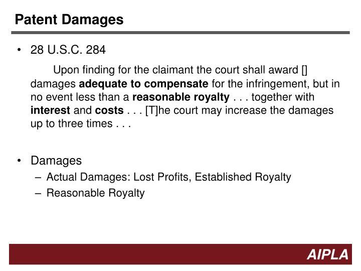 Patent Damages