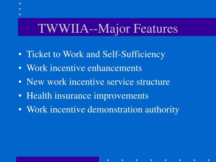 Twwiia major features
