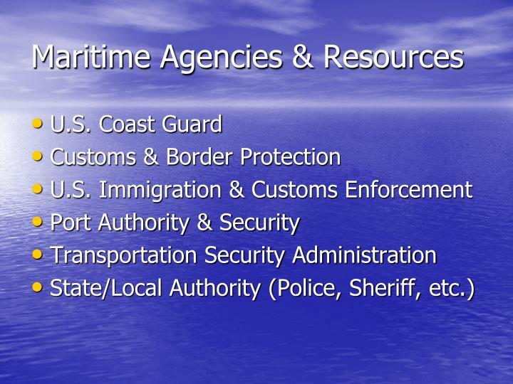 Maritime Agencies & Resources