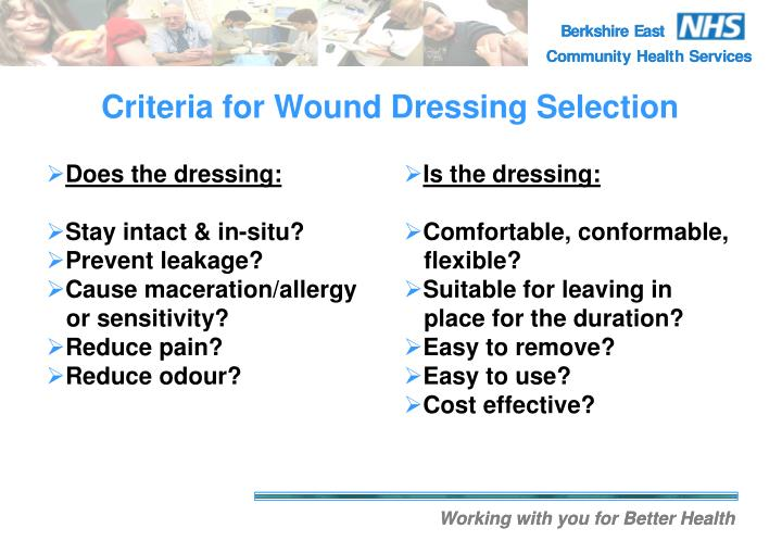 Does the dressing: