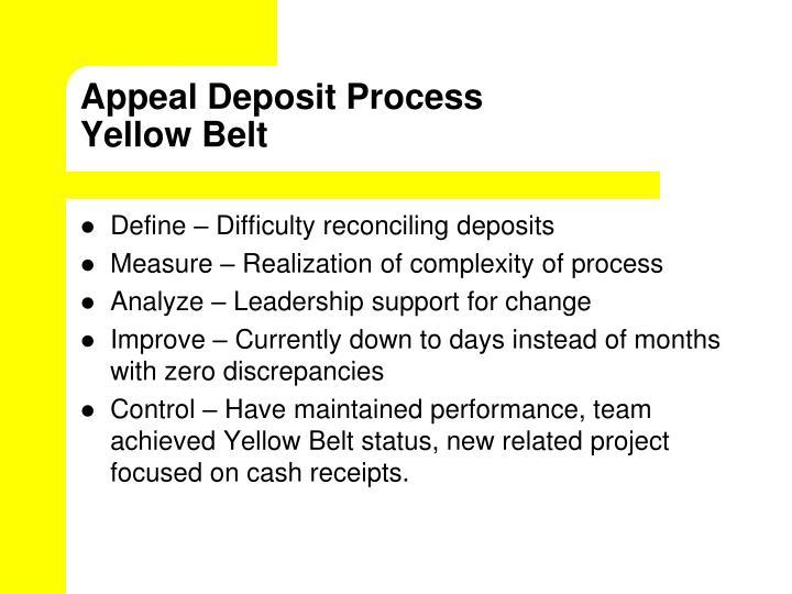 Appeal Deposit Process