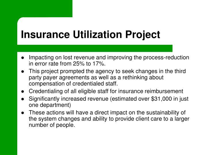 Insurance Utilization Project