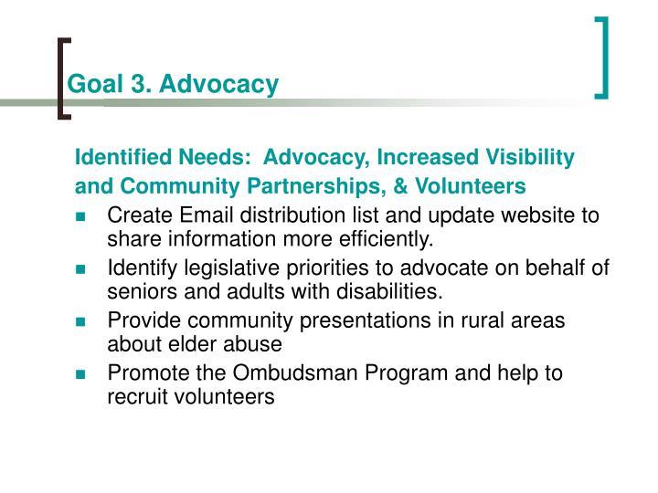 Goal 3. Advocacy