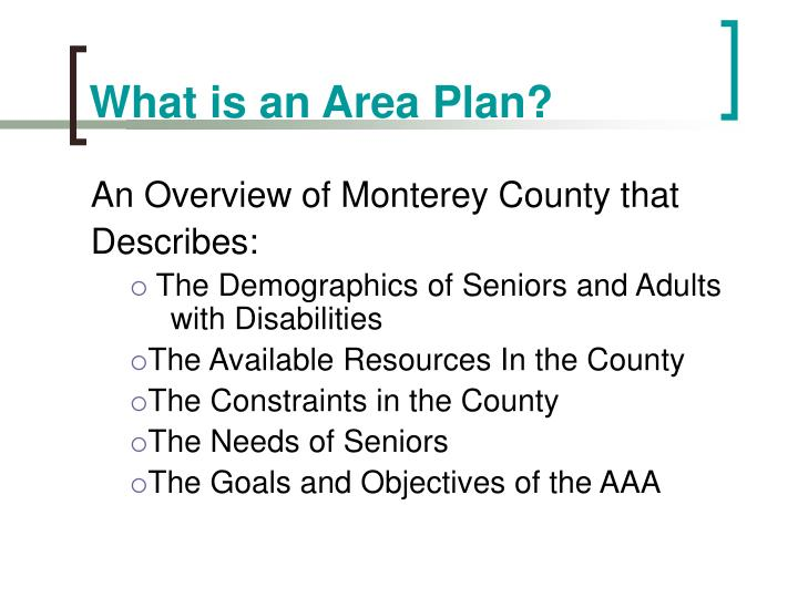 What is an Area Plan?