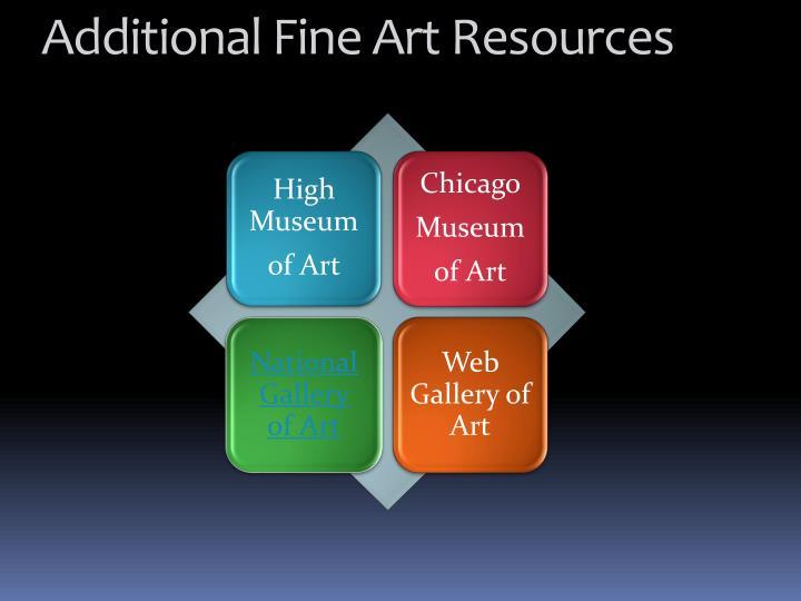 Additional Fine Art Resources