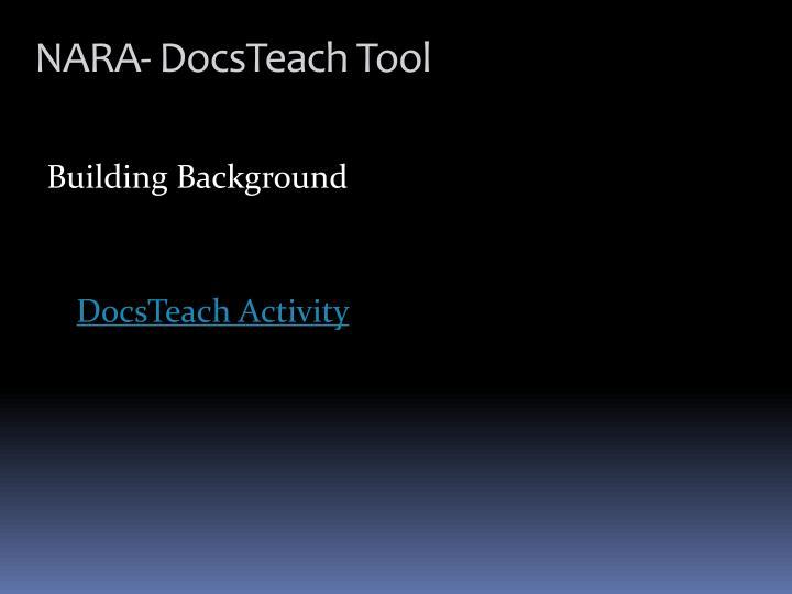 NARA- DocsTeach Tool