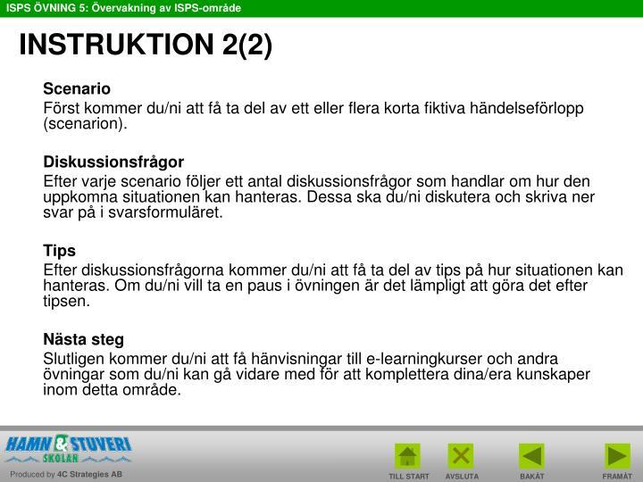 INSTRUKTION 2(2)