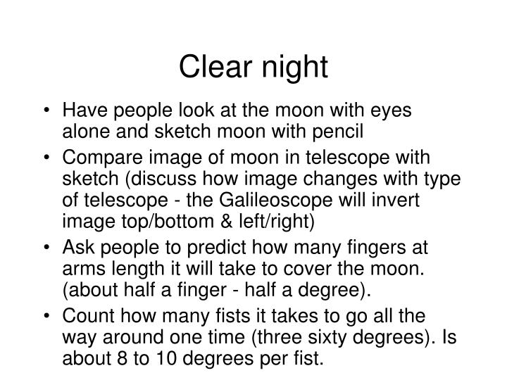 Clear night