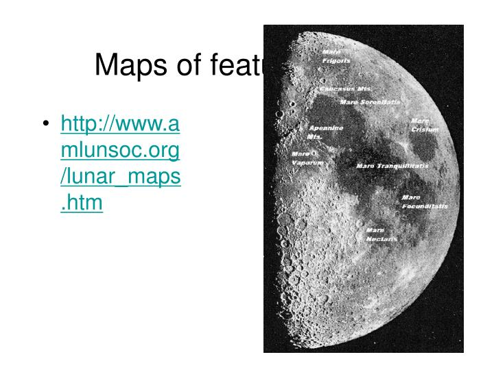 Maps of features 1st Q