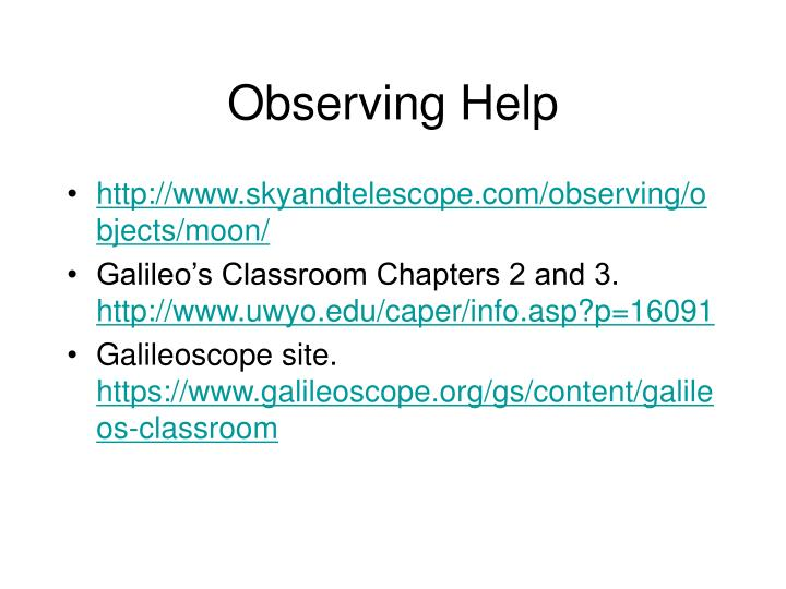 Observing Help
