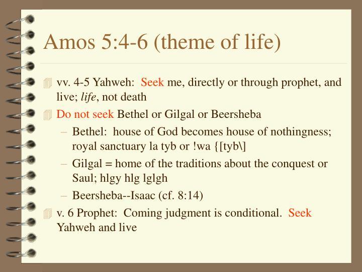 Amos 5:4-6 (theme of life)