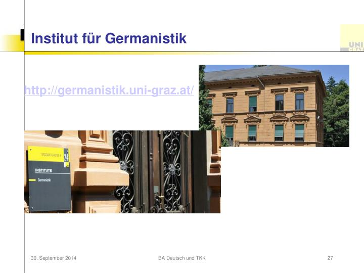 Institut für Germanistik