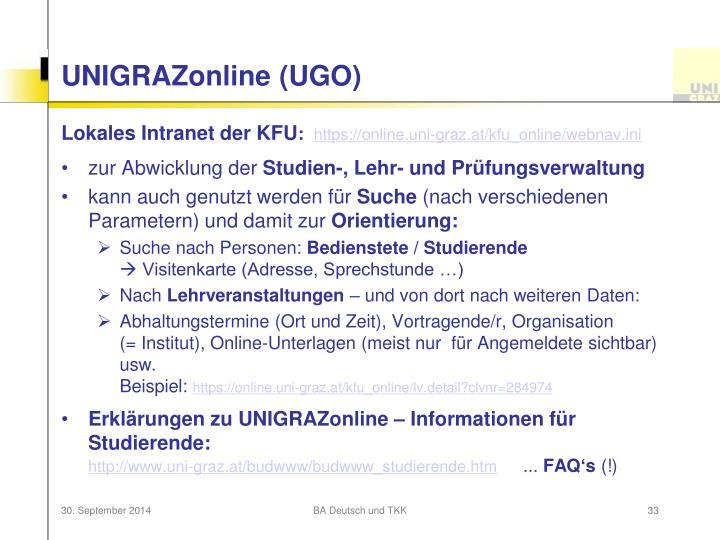 UNIGRAZonline (UGO)