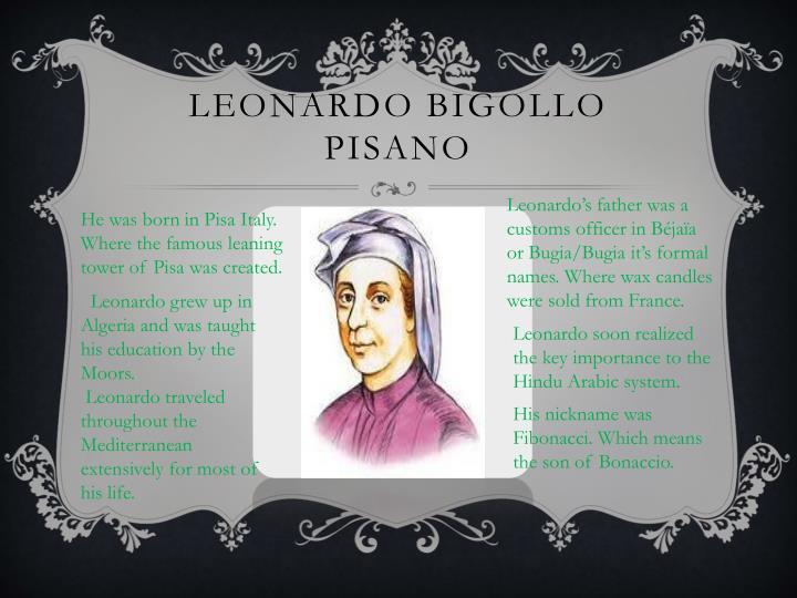 Leonardo bIGOLLO Pisano